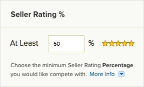 Konkurrenz nach Bewertung des Verkäufers filtern